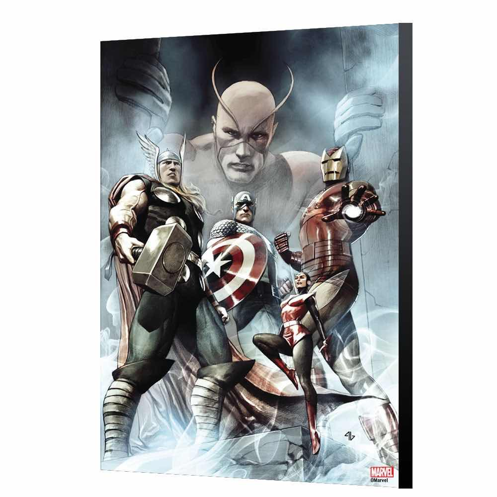 C.AMERICA HAIL HYDRA 2 POR ADI GRANOV PANEL MADERA 40 X 60 CM AVENGERS COLLECTION MARVEL