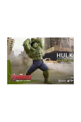 HULK DELUXE SET FIGURA 42 CM AGE OF ULTRON SIXTH SCALE FIGURE HOT TOYS