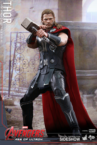 THOR FIGURA 32 CM AVENGERS AGE OF ULTRON MARVEL SIXTH SCALE HOT TOY