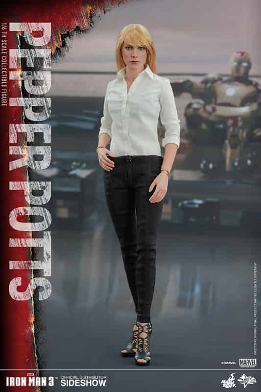 PEPPER POTTS FIGURA 30 CM MARVEL IRON MAN 3 SIXTH SCALE HOT TOYS