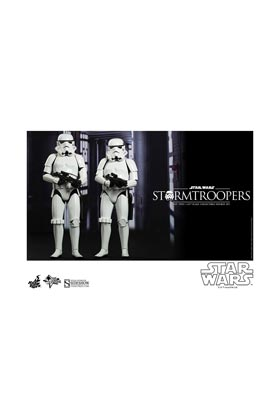 STORMTROOPERS SET 2 FIGURAS 30 CM Y 28  CM SIXTH SCALE HOT TOYS STAR WARS