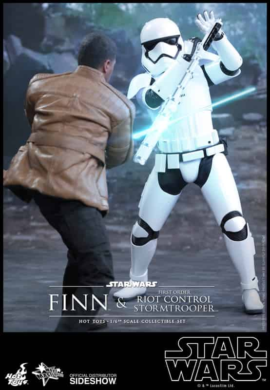 FINN Y RIOT STORMTROOPER SET 2 FIGURAS 30 CM STAR WARS SIXTH SCALE FIGURE HOT TOYS