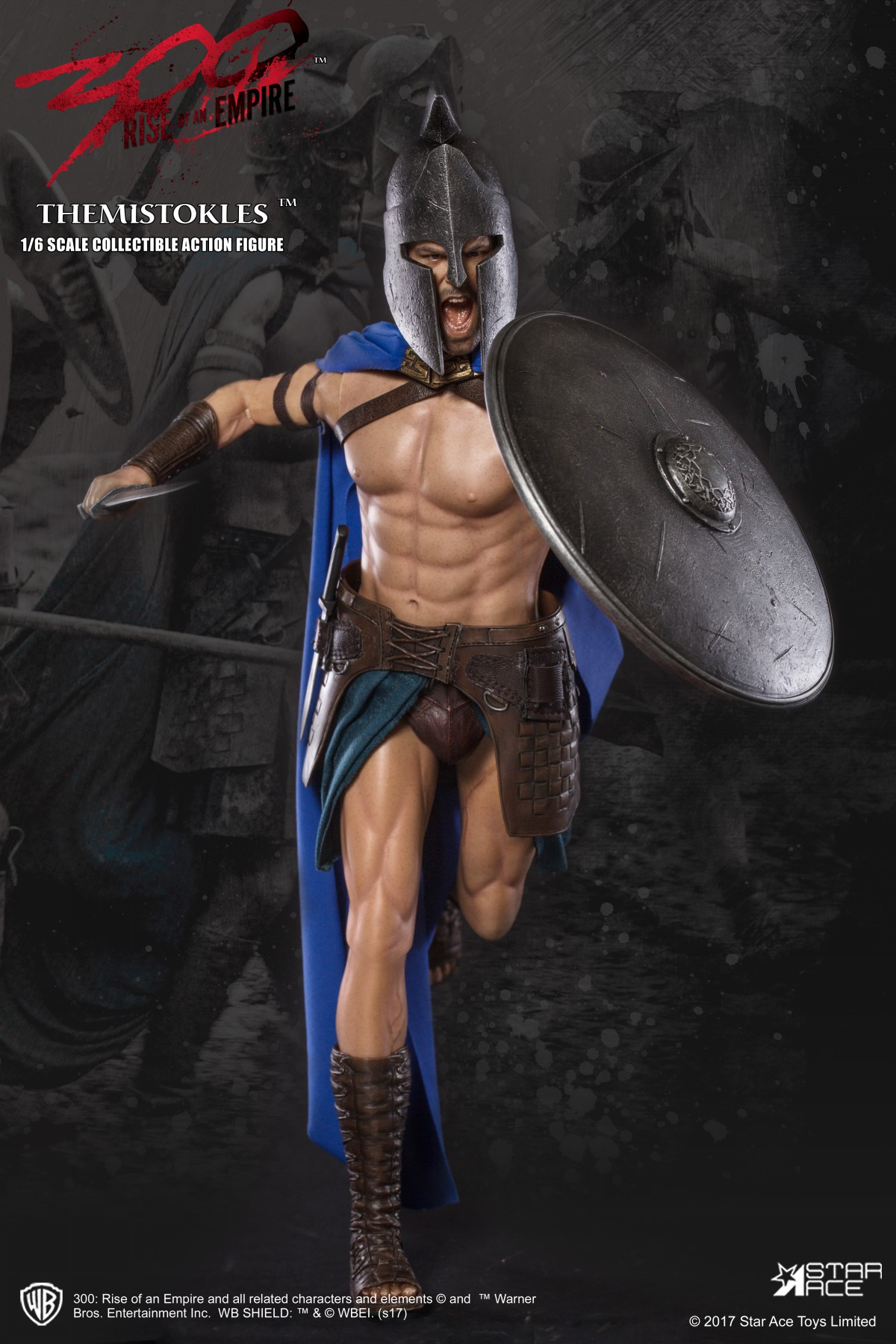 GENERAL THEMISTOKLES FIGURA 30 CM 300 RISE OF AN EMPIRE STAR ACE
