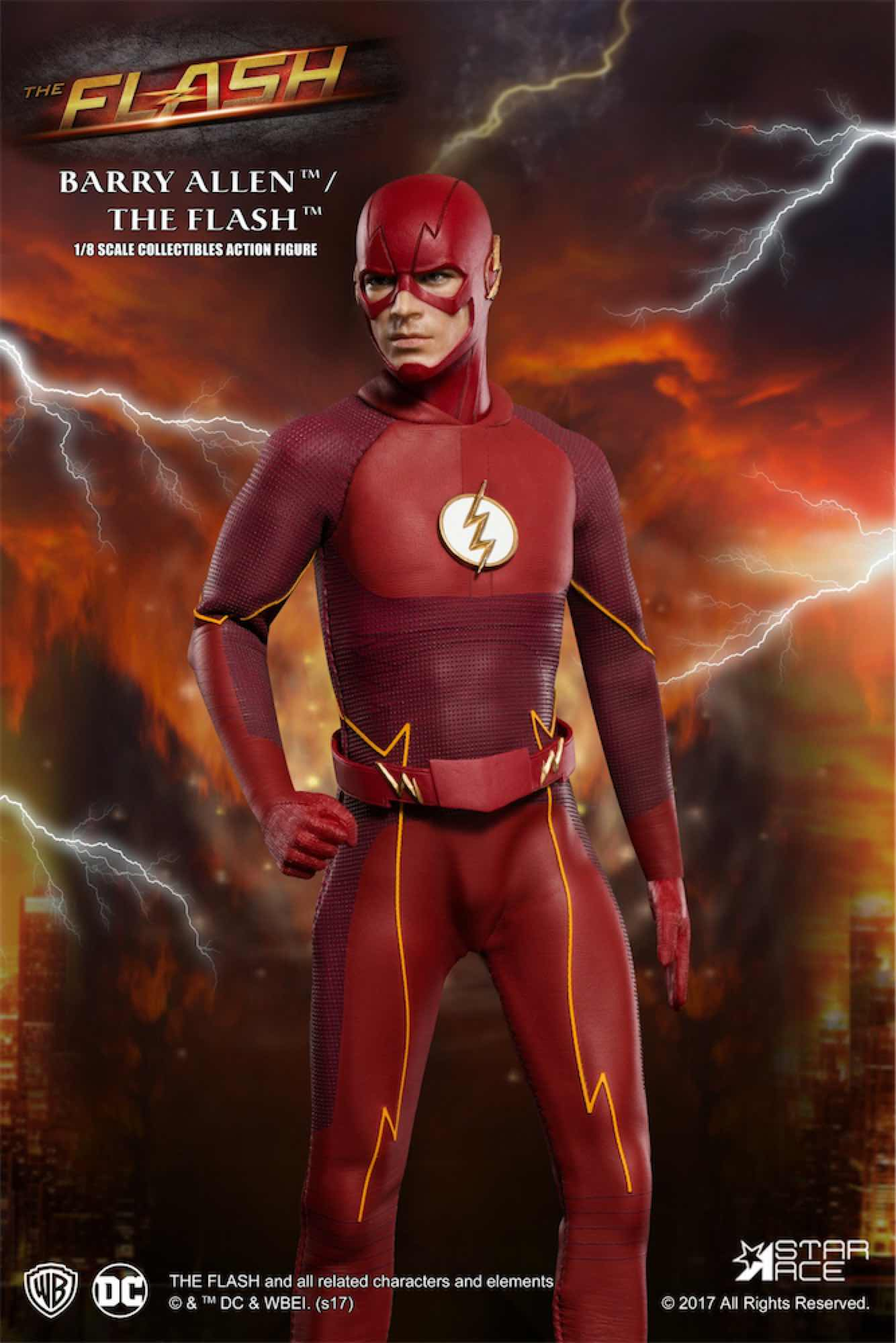 THE FLASH FIGURA 22.5 CM 1/8 COL. ACTION FIGURE REAL MASTER SERIES DC
