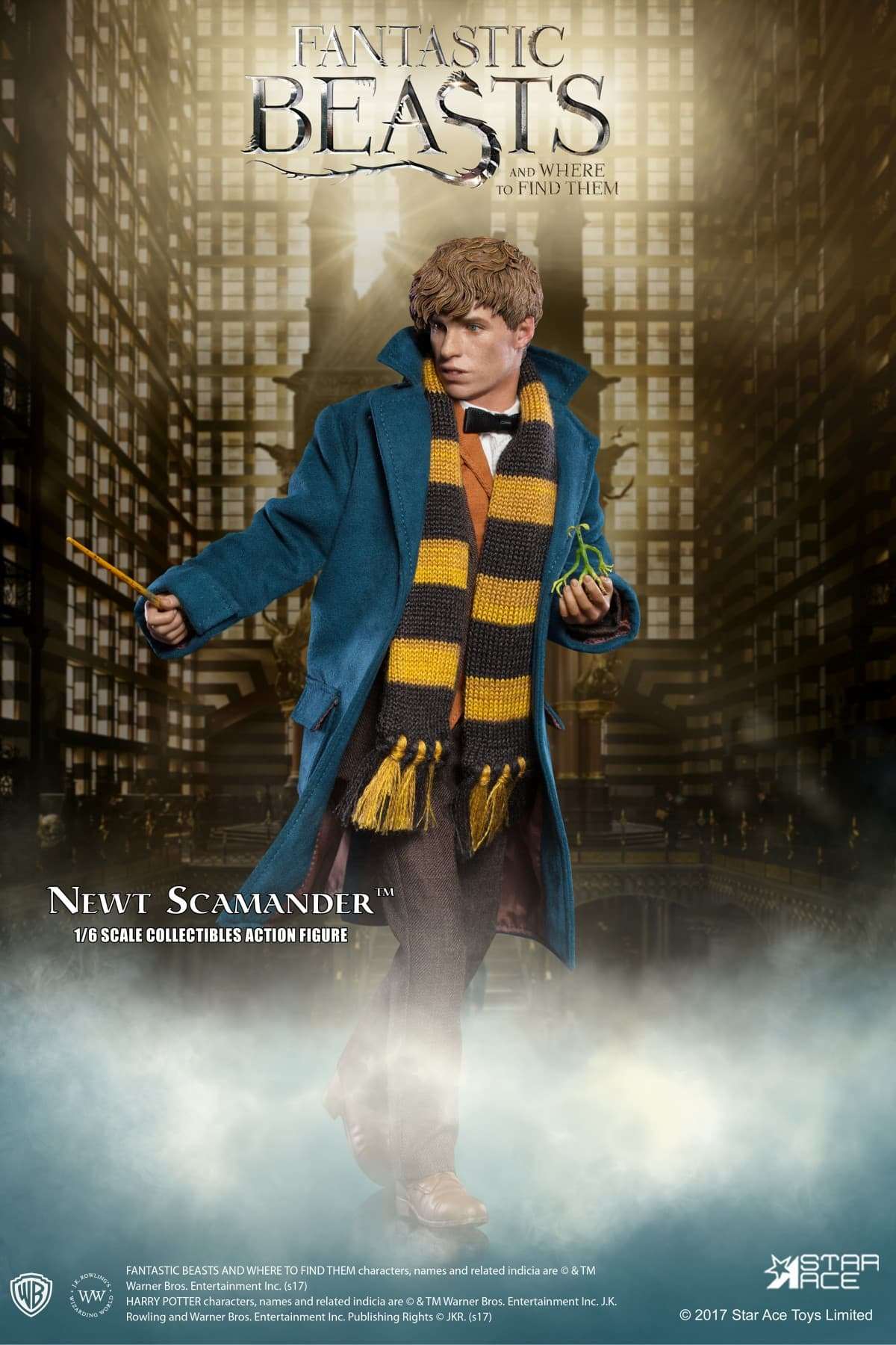NEWT SCAMANDER FIGURA 30 CM 1/8 COL. ACTION FIGURE FANTASTIC BEASTS AND WHERE TO FIND THEM