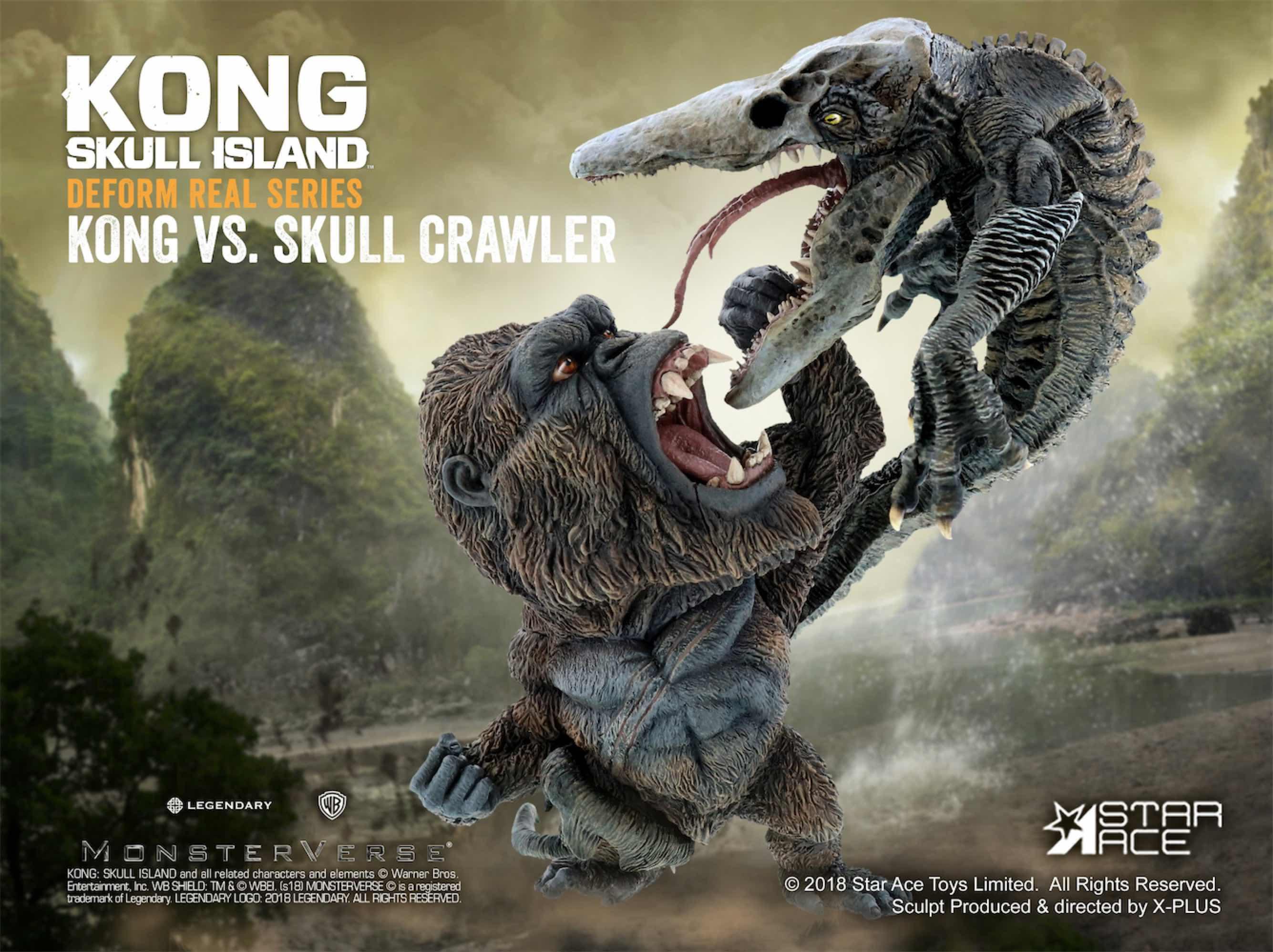 KONG & SKULL CRAWLER PACK 2 ESTATUAS 15 Y 16 CM KING KONG SKULL ISLAND SOFT VINYL