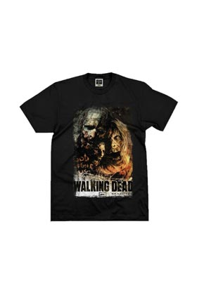 ZOMBIES GOD FORGIVES AMC CAMISETA NEGRA CHICO TALLA M THE WALKING DEAD SERIE TV