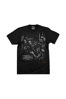 ZOMBIES REJA AMC CAMISETA NEGRA CHICO TALLA M THE WALKING DEAD SERIE TV