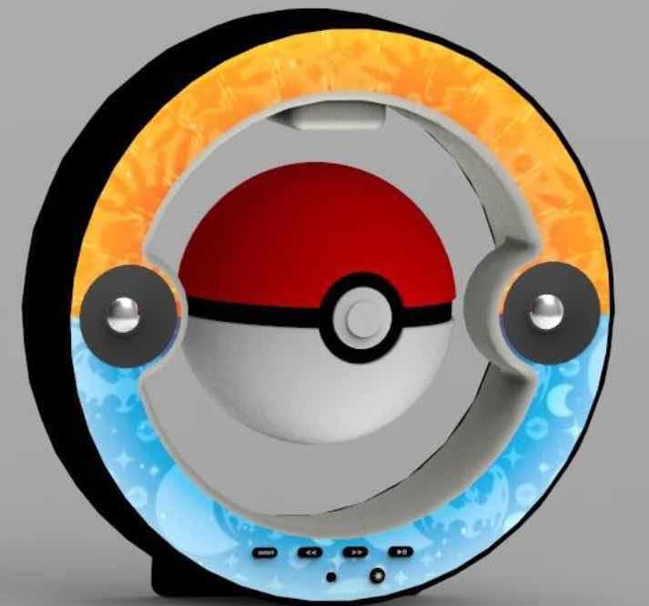 POKEBALL LEVITANDO ALTAVOZ BLUETOOTH POKEMON