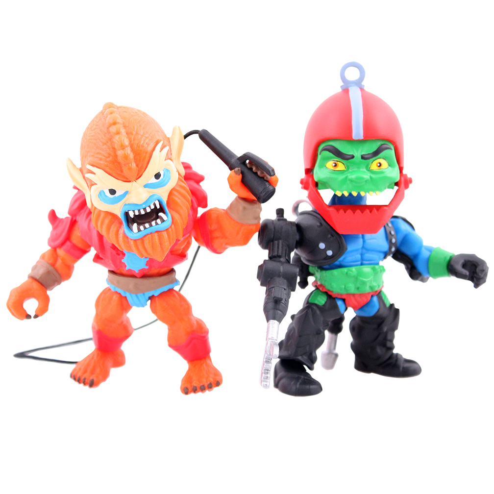 BEASTMAN & TRAP JAW 2 FIGURAS 8 CM MASTERS OF THE UNIVERSE