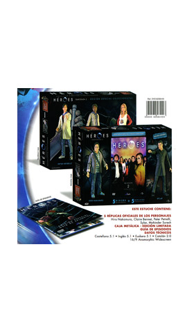 HEROES TEMP. 02 - COLLECTORS EDITION PACK 5 FIGURAS (5 DVD)