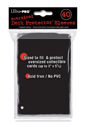DECK PROTECTOR OVERSIZED (40) - COLOR NEGRO