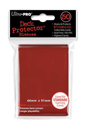 SOLID DECK PROTECTOR RED (ROJO) (50)