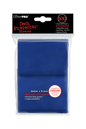 SOLID DECK PROTECTOR COLOR AZUL - BOLSA DE 100 FUNDAS