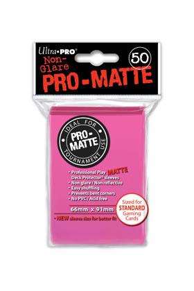 DECK PROTECTOR MATE (50) - BRIGHT PINK (ROSA BRILLANTE)