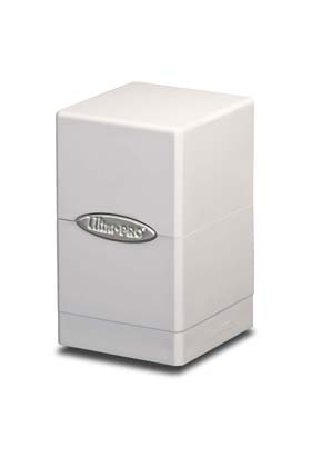 SATIN TOWER DECK BOX -WHITE (BLANCO)