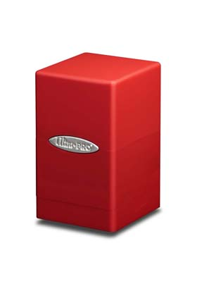 SATIN TOWER DECK BOX -RED (ROJO)