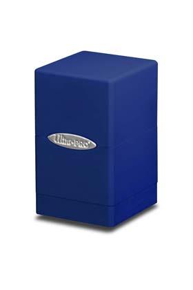 SATIN TOWER DECK BOX -BLUE (AZUL)