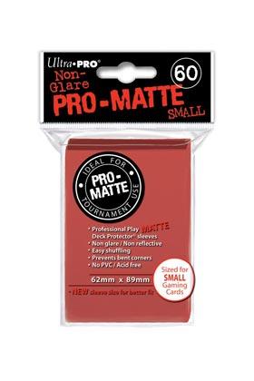MINI DECK PROTECTOR MATE (60) - RED (ROJO)