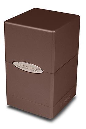 SATIN TOWER DECK BOX - METALLIC DARK CHOCOLATE (CHOCOLATE NEGRO)