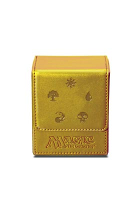 MAGIC MANA FLIP TOP DECK BOX - GOLD MANA