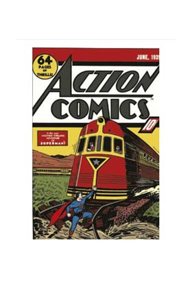 SUPERMAN COVER TREN ACTION COMIC LIENZO 50x70x3 CM DC COMICS