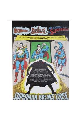 SUPERMAN ROMPE LIENZO 50x70x3 CM DC COMICS