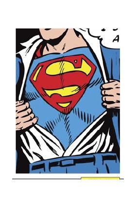 CLARK SUPERMAN LIENZO 50x70x3 CM DC COMICS