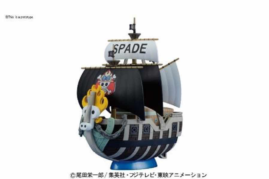 SPADE PIRATE'S SHIP MODEL KIT FIGURA 15 CM ONE PIECE GRAND SHIP COLLECTION